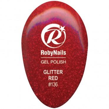 Gel Polish Glitter Red