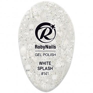 Gel Polish White Splash