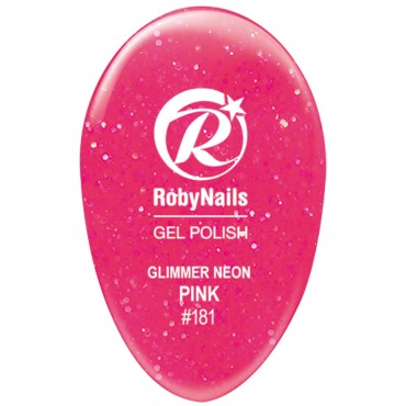 Gel Polish Glimmer Neon Pink