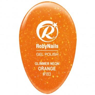Gel Polish Glimmer Neon Orange