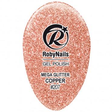 Gel Polish Mega Glitter Copper