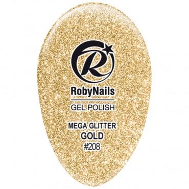 Gel Polish Mega Glitter Gold